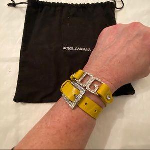 Dolce & Gabbana Rhinestone Yellow Bracelet